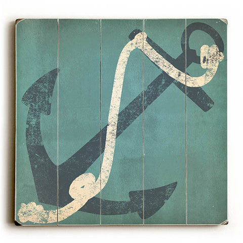 Nautical Anchor by Artist Ryan Fowler Wood Sign