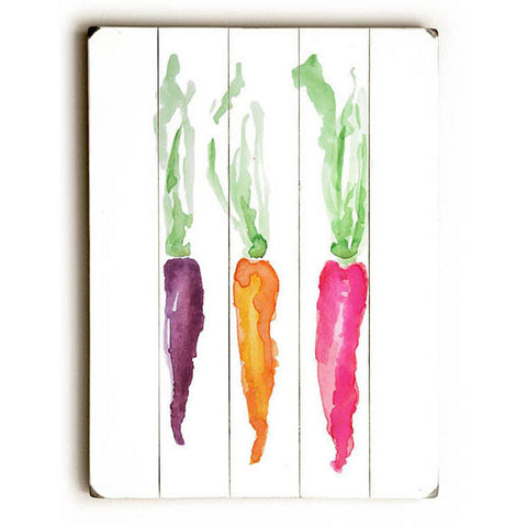 Carrots by Artist Carly Martin Wood Sign
