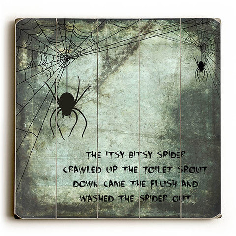 Itsy Bitsy Spider by Artist Brandi Fitzgerald Wood Sign