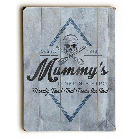 Mummy's Diner by Artist Dave Diller Wood Sign