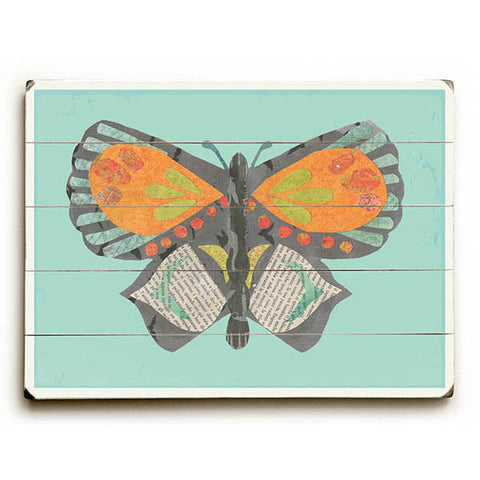 Butterfly by Artist Rebecca Peragine Wood Sign