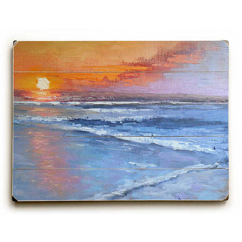 Sun Falls To The Sea by Artist Carol Schiff Wood Sign