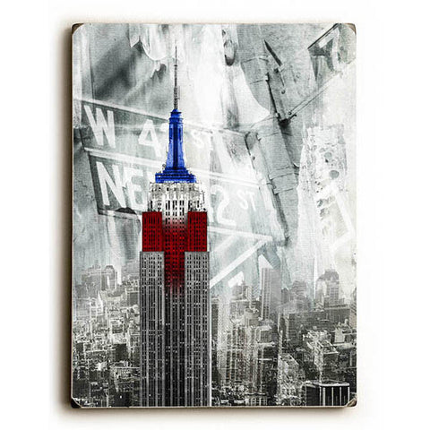 Patriotic Empire State by GI ArtLab Wood Sign