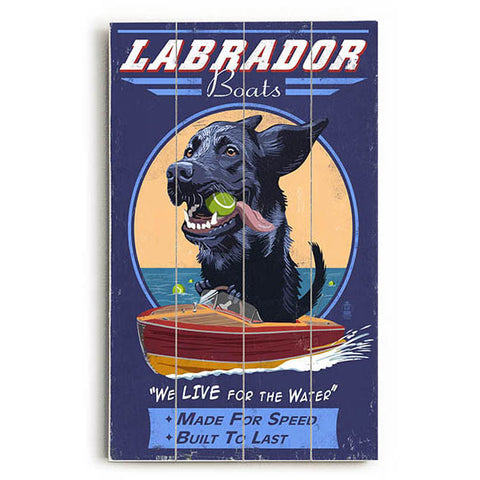Labrador Boats Wood Sign