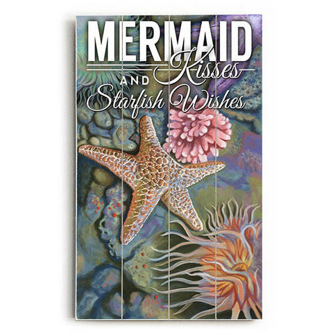 Mermaid Kisses Wood Sign