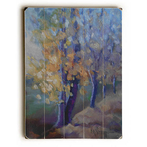 Fall Comes Softly by Artist Carol Schiff Wood Sign
