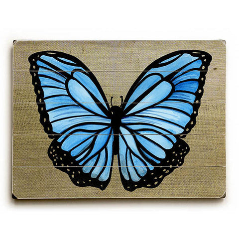 Blue Butterfly by KG Art Studio Wood Sign