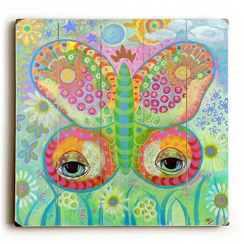 Butterfly Eyes by KG Art Studio Wood Sign