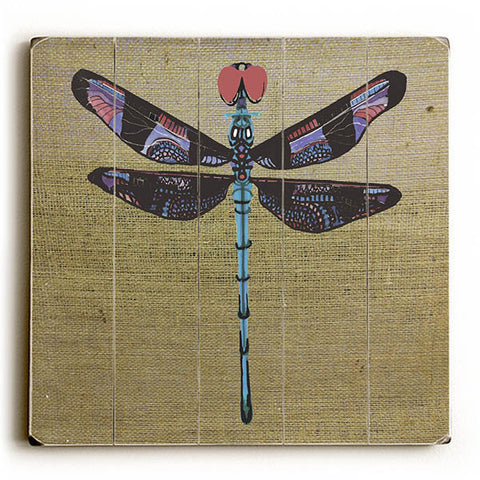Dragonfly by KG Art Studio Wood Sign