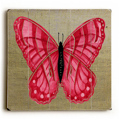 Red Butterfly by KG Art Studio Wood Sign