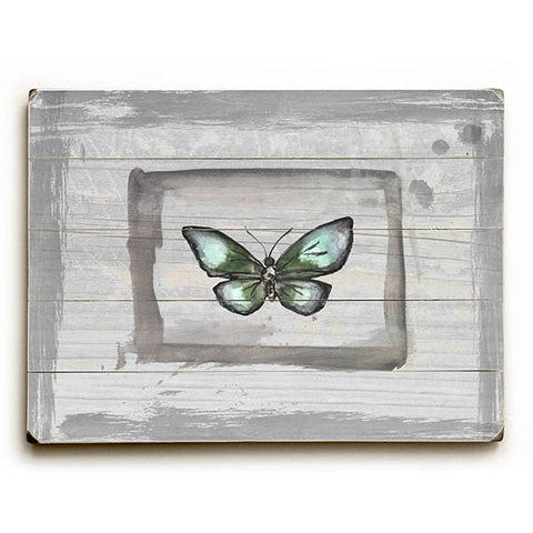 Weathered Butterfly by Artist Jennifer Rizzo Wood Sign