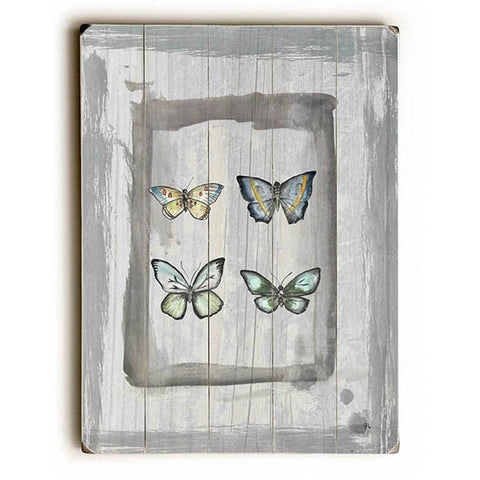 Weathered Butterflies by Artist Jennifer Rizzo Wood Sign