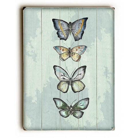 World Of Butterflies by Artist Jennifer Rizzo Wood Sign