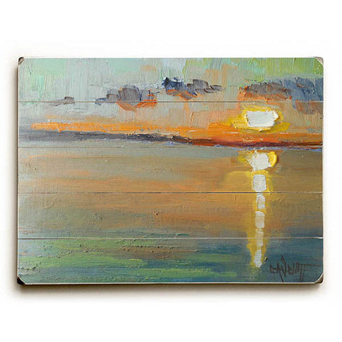 Abstract Sunset by Artist Carol Schiff Wood Sign