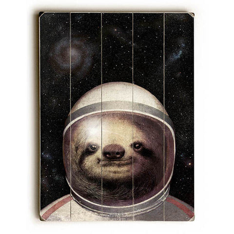 Space Sloth by Artist Eric Fan Wood Sign