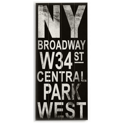 New York by Artist Cory Steffen Wood Sign