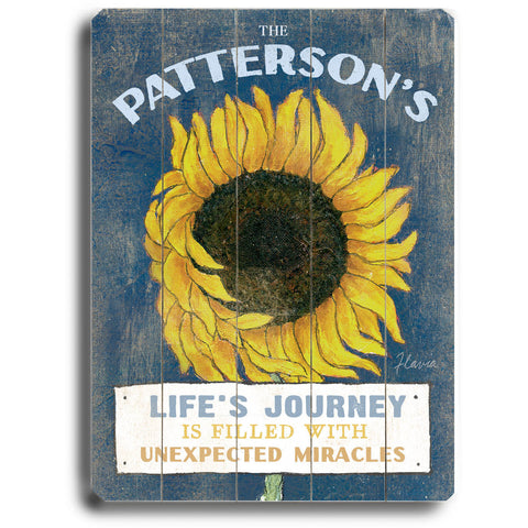 Personalized Life's Journey Wood Sign
