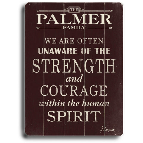 Personalized Strength And Courage Wood Sign