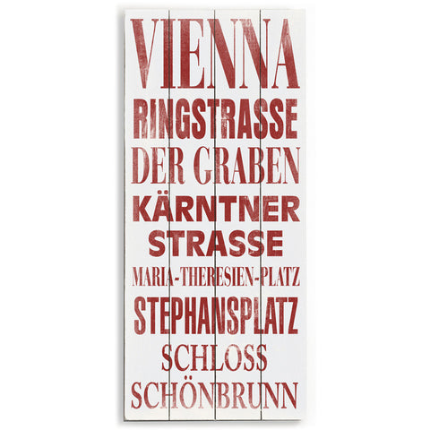 Vienna by Artist Cory Steffen Wood Sign