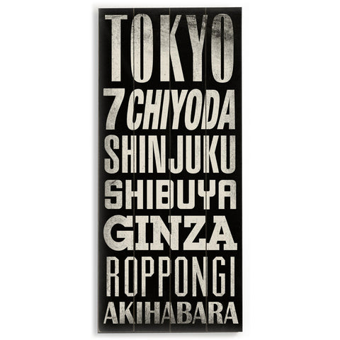 Tokyo by Artist Cory Steffen Wood Sign