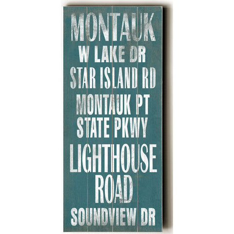 Montauk by Artist Cory Steffen Wood Sign