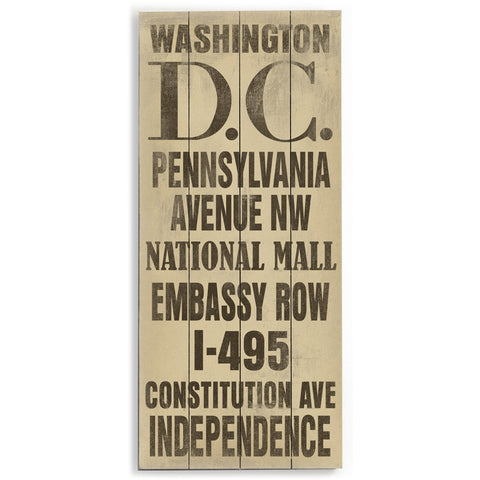 Washington DC by Artist Cory Steffen Wood Sign