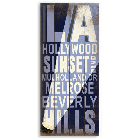 Los Angeles Hollywood by Artist Cory Steffen Wood Sign