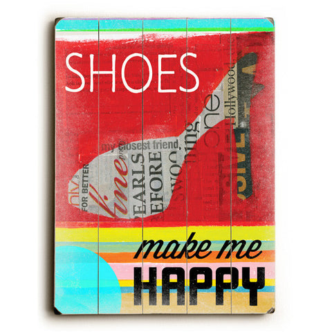 Shoes by Artist Cory Steffen Wood Sign