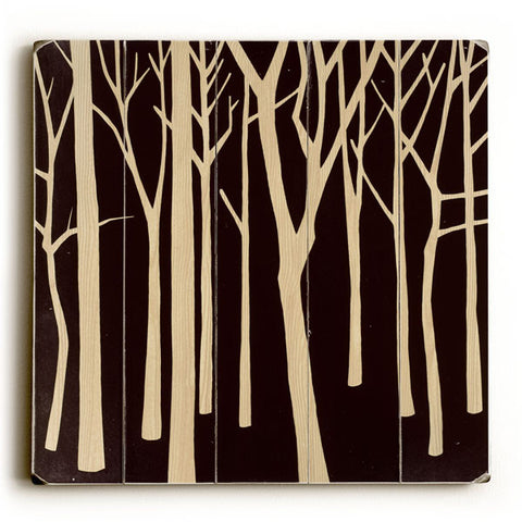 Dark Forest by Artist Mary Calkins Wood Sign