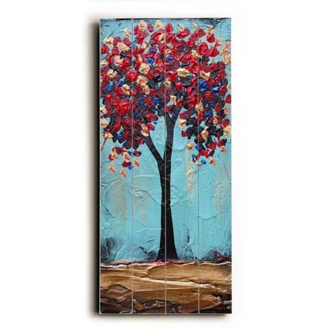 Bloomy Tree by Artist Danlye Jones Wood Sign