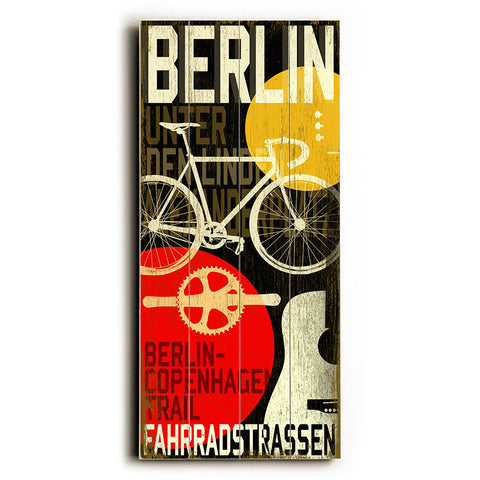 Berlin Cycle by Artist Cory Steffen Wood Sign