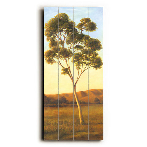 Lonely Eucalyptus by Artist Cory Steffen Wood Sign
