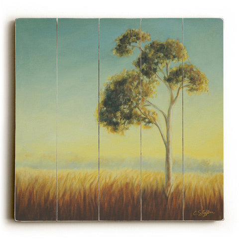 Single Eucalyptus by Artist Cory Steffen Wood Sign