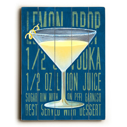 Lemon Drop by Artist Cory Steffen Wood Sign