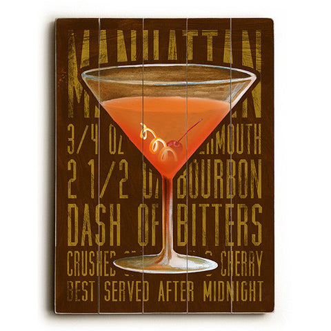 Manhattan by Artist Cory Steffen Wood Sign