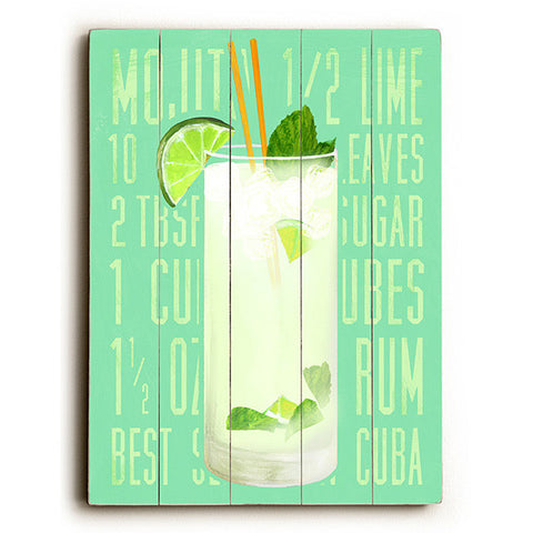 Mojito by Artist Cory Steffen Wood Sign