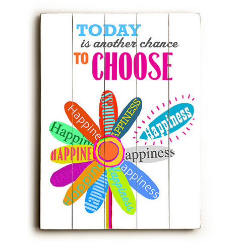 Choose Happiness by Artist Cory Steffen Wood Sign