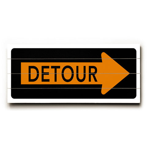 Detour Right Arrow by Artist Cory Steffen Wood Street Sign