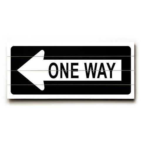One Way Left Arrow by Artist Cory Steffen Wood Street Sign