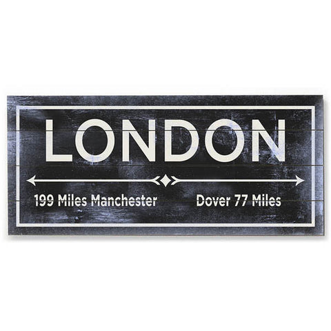 London Wood Sign