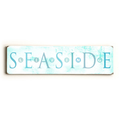 Seaside by Artist Peter Horjus Wood Sign