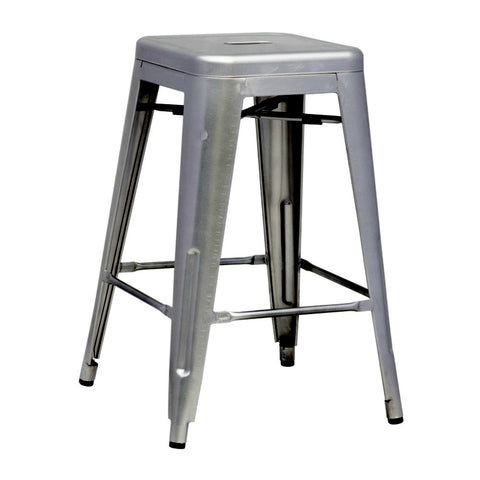 Talix Counter Stool, Gunmetal