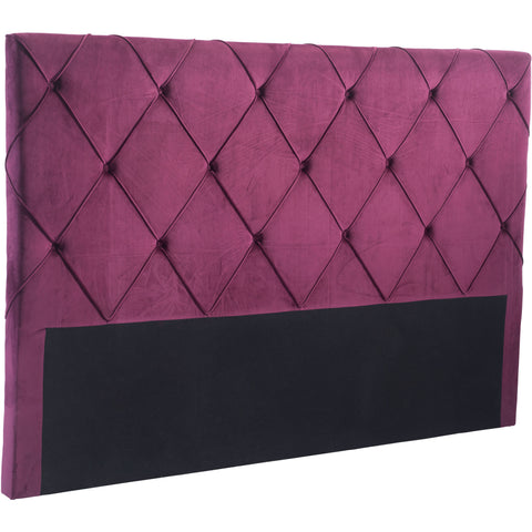 Matias Headboard King Wine Velvet