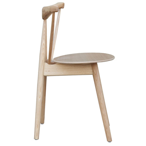 Fronter Solid Wood Dining Chair, Natural