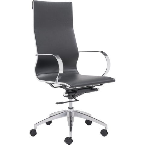 Glider Hi Back Office Chair Black