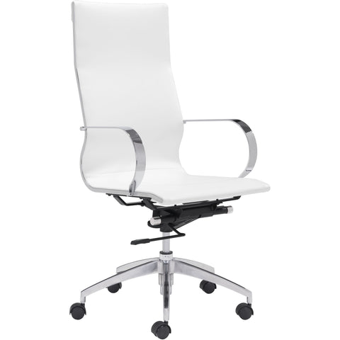 Glider Hi Back Office Chair White
