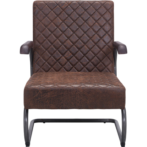 Father Lounge Chair, Vintage Brown