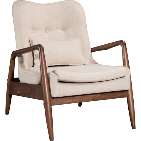 Bully Lounge Chair & Ottoman, Beige