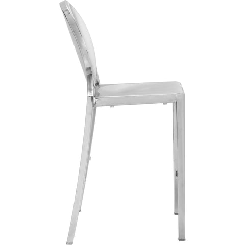 Eclispe Counter Chair, Stainless Steel (Set of 2)