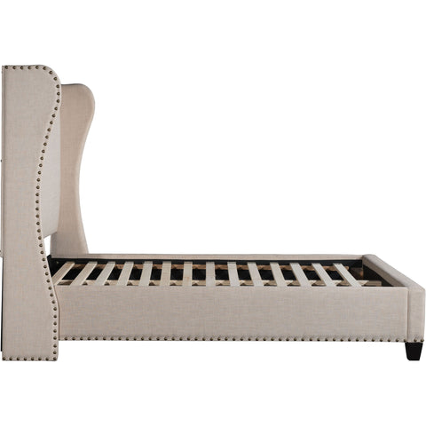 Enlightenment Queen Bed, Beige